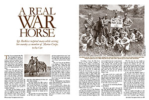 Opening pages of A Real War Horse story