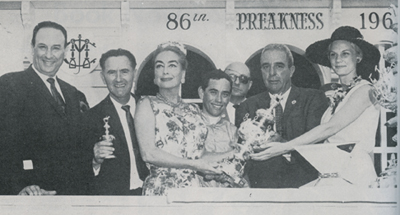 Preakness presentation by Joan Crawford